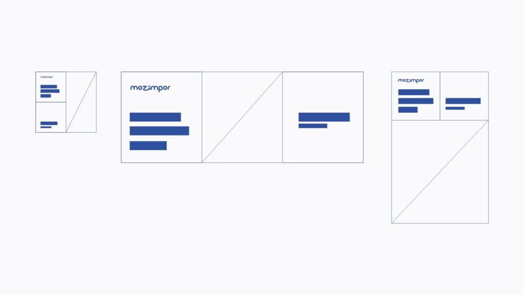 Mozimpor Branding grid system