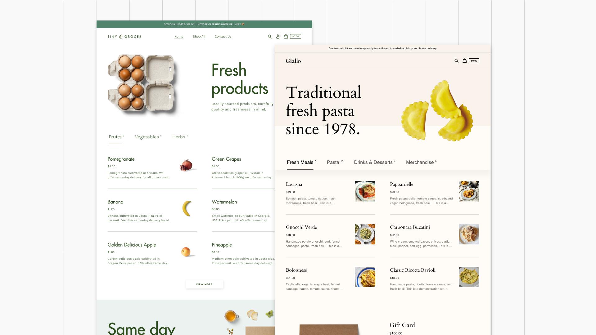 Exemplo de solução E-commerce para restauração